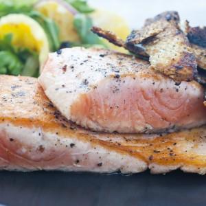 BBQ Salmon with Orange and Fennel Salad